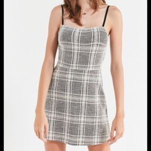 Urban Outfitters straight necked plaid mini dress